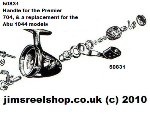 ABU Premier 704 Closed-Face Reel Handle