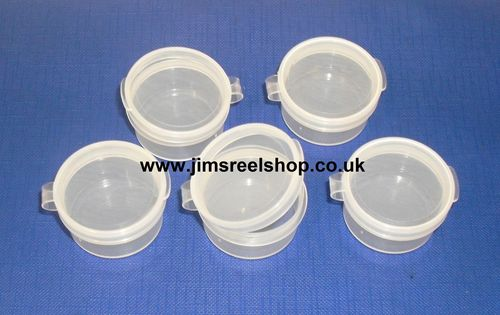 SMALL PLASTIC STORAGE POTS 15ML CAPACITY X TEN