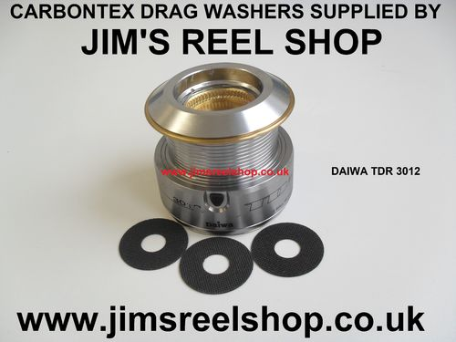 DAIWA TD-R 2508 & 3012 CARBONTEX DRAG WASHER'S