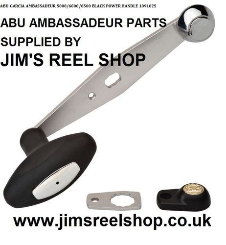 ABU AMBASSADEUR 5/6/6500 SILVER POWER HANDLE'S