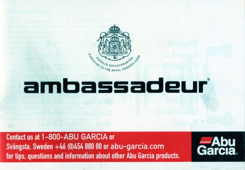 Ambassadeur Instruction Booklet