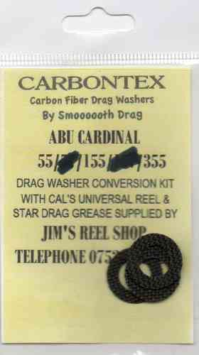ABU CARDINAL  55/155 & 355 CARBONTEX DRAG WASHER KITS