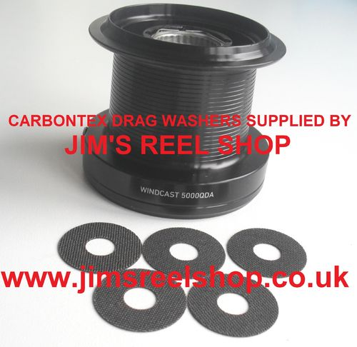 DAIWA WINDCAST QDA CARBON DRAG WASHER UPGRADE'S